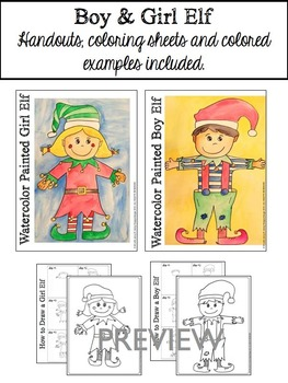 Christmas Activities: How to Draw Santa, Elves and Carolers!