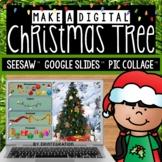 Digital Christmas Tree Activities on Google Slides & Seesaw