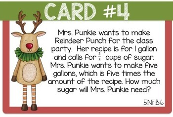Christmas in 5th {Math Word Problems - Task Cards}