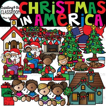 Christmas in America Clipart {Christmas Around the World Clipart}