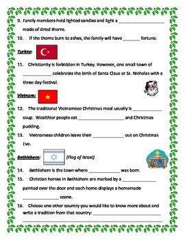 Christmas in Asia Webquest