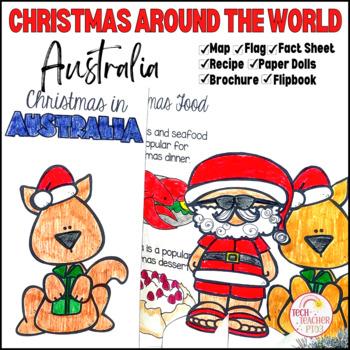 Christmas Around the World ** Australia ** Maps, Flags, Info Cards & Recipe