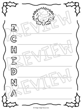 Christmas in Australia Colouring Pages and Writing ...