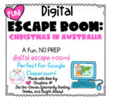 Christmas in Australia: Digital Escape Room | Google Slides