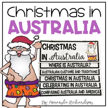 Christmas In Australia Book.Christmas In Australia Flip Up Book