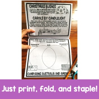 Christmas in Australia Flip Up Book