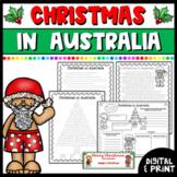 Christmas in Australia - Reading passage & Activities   Google Classroom & Print