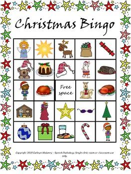 Christmas in Australia bingo
