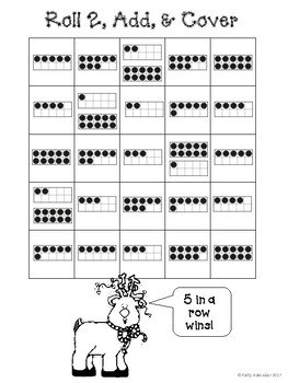 Christmas in Black & White-Roll & Cover - 10 Frames, Number Words, & Numbers