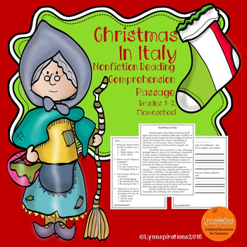 Christmas in Italy: Non-fiction Reading Comprehension Pass