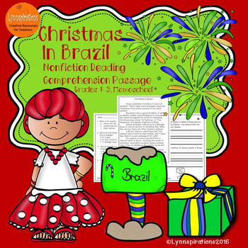 Christmas In Brazil.Christmas In Brazil Non Fiction Reading Comprehension Passage For Grades 1 3