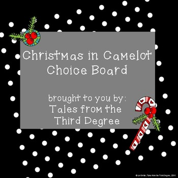 Magic Tree House Christmas in Camelot Choice Board