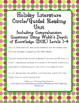 Christmas in Camelot Novel Study Webb's DOK Questions Exte