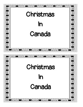 Christmas in Canada