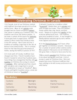 Christmas in Canada ESL ELL BUNDLE