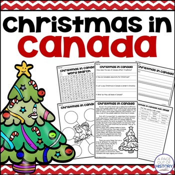 Christmas in Canada - Christmas Around the World Social Studies Unit