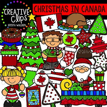 Christmas in Canada Clipart {Creative Clips Clipart}