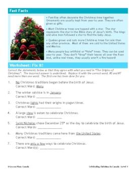 Christmas in Canada (ESL 1)