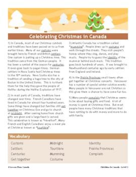 Christmas in Canada (ESL 2)