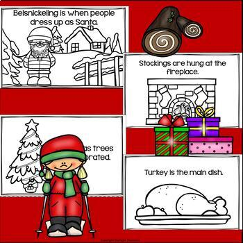 Christmas in Canada Mini Book for Early Readers - Christmas Activities