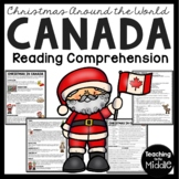 Christmas in Canada Reading Comprehension; Christmas Around the World