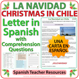 Christmas in Chile - Letter in Spanish with Worksheets