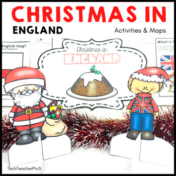 Christmas Around the World ** England ** Maps, Flags, Information Cards & Recipe
