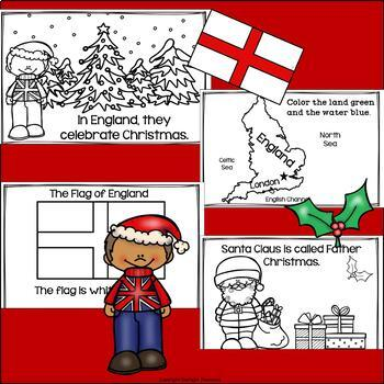Christmas in England Mini Book for Early Readers - Christmas Activities