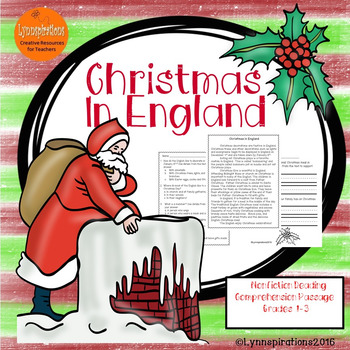 Christmas in England: Non-fiction Reading Comprehension Pa