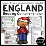 Christmas in England Reading Comprehension Worksheet Christmas Around the World