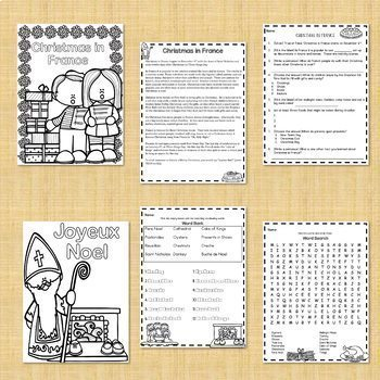 Christmas in France PPT, Jigsaw, and Reading Activities BUNDLE