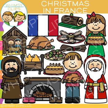 Christmas in France Clip Art {Christmas Around the World Clip Art}