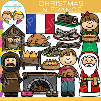 Christmas in France Clip Art {Christmas Around the World Clip Art}