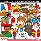Christmas in France Clip Art