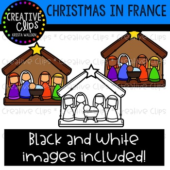 Christmas in France Clipart {Creative Clips Clipart}