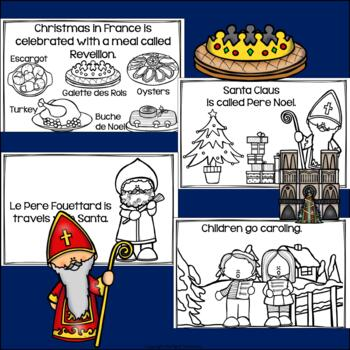 Christmas in France Mini Book for Early Readers - Christmas Activities