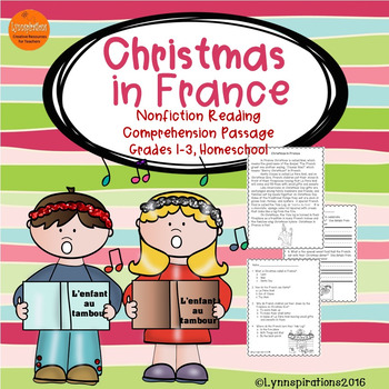 Christmas in France: Non-fiction Reading Comprehension Passage for Grades 1-3