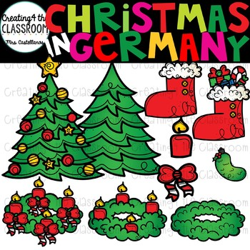 Christmas in Germany Clipart {Christmas Around the World Clipart}