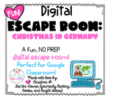 Christmas in Germany: Digital Escape Room | Google Slides