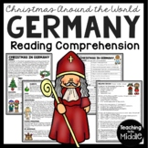 Christmas in Germany Reading Comprehension; Christmas Around the World