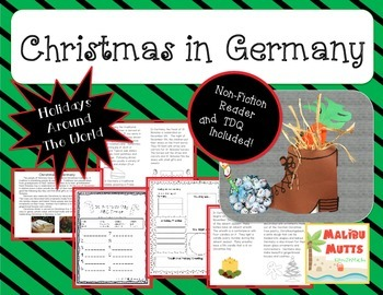 Christmas in Germany-St. Nicholas Day-Common Core Aligned