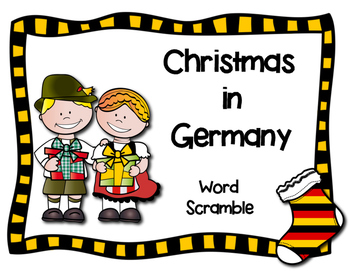 Christmas in Germany Word Scramble
