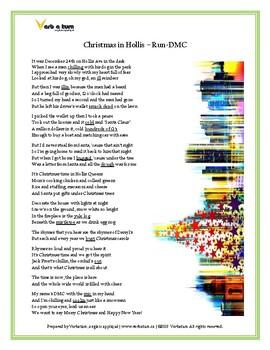 Christmas in Hollis - Run DMC: Slang, Storytelling ESLWorksheet