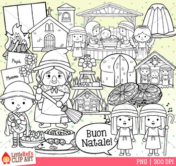 Christmas in Italy Christmas Clip Art