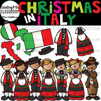 Christmas in Italy Clipart {Christmas Around the World Clipart}