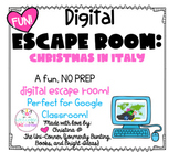 Christmas in Italy: Digital Escape Room | Google Slides