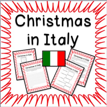 Christmas in Italy -  Informational Text, Questions, and Fun Activities!