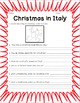Christmas in Italy -  Informational Text, Questions, and F