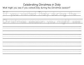 Christmas in Italy Mini Unit- Common Core Aligned