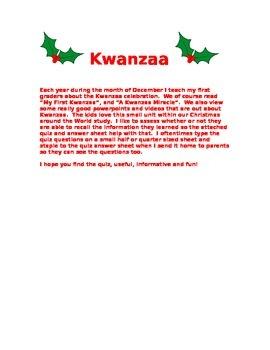 Kwanzaa Quiz